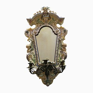 Antique Bevelled Mirror with Candelabra from Hugo Lonitz