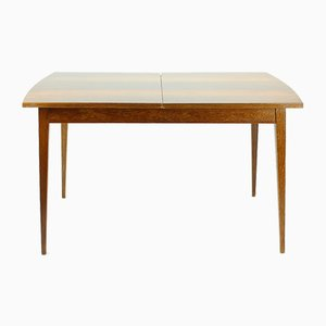 Czechoslovak Walnut Veneer Extendable Dining Table from Jitona, 1970s