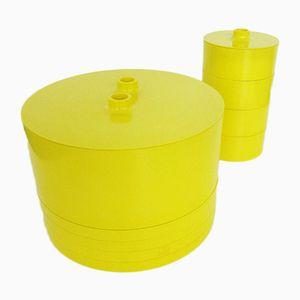Geschirr aus Kunststoff von Massimo Vignelli für Heller, 1960er, 13er Set