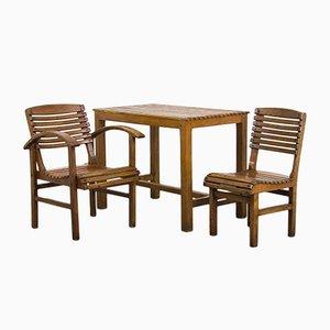 Set de Table et Chaises Vintage en Hêtre