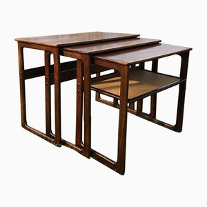 Mid-Century Rosewood Nesting Tables by Johannes Andersen and Illum Wikkelsø for Silkeborg
