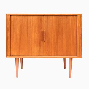 Danish Teak Record or Bar Cabinet by Kai Kristiansen for FM Møbler, 1960s