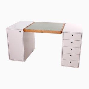 Doppelseitiger Schreibtisch aus Pinienholz & Resopal von Raimund Probst, 1968