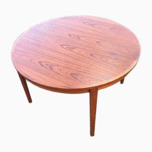 Mid-Century Teak Dining Table by Henry Rosengren Hansen for Brande