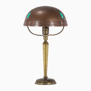 Antique Art Nouveau Copper Table Lamp