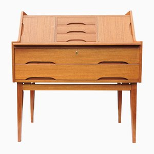Danish Teak Vintage Bureau, 1960s
