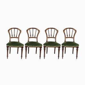 Chaises de Salle à Manger Victoriennes Antique, Set de 4