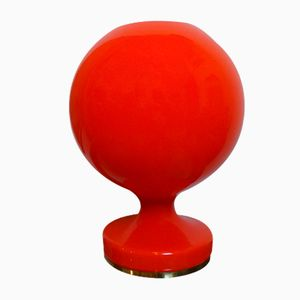 Vintage Czech Red Glass Lamp by Stepan Tabery for OPP Jihlava, 1970s
