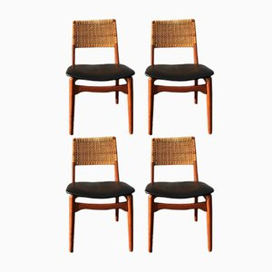 Dining Chairs by E. Knudsen for Jensen & Lykkegaard, 1950s, Set of 4