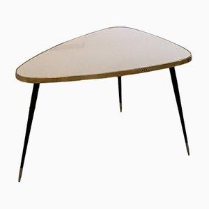Tavolino vintage in formica e ottone