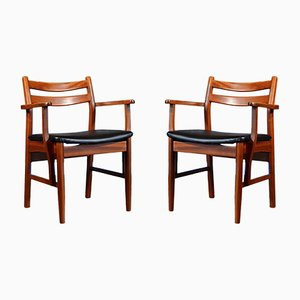 Mid-Century Carver Chairs aus Teak, 2er Set