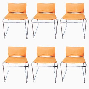 Vintage Metal Chairs, Set of 6