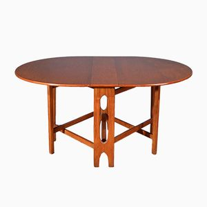 Mid-Century Drop Leaf Teak Table from McIntosh