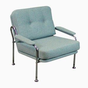Verchromte Mid-Century Armlehnstühle, 1960er, 2er Set