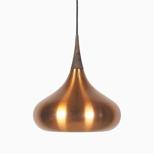 Major Orient Copper Pendant Lamp by Johannes Hammerborg for Fog & Mørup, 1960s