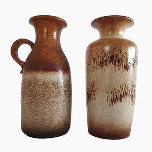 Vases Vintage en Céramique de Scheurich, 1960s, Set de 2