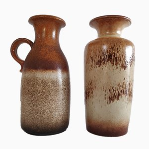 Vintage Ceramic Vases from Scheurich, 1960s, Set of 2