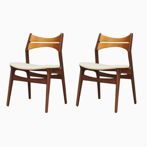 Danish Dining Chairs by Erik Buch, 1970s, Set of 2