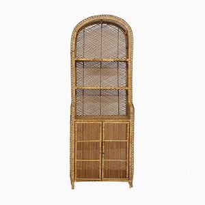 Vintage Rattan Cabinet