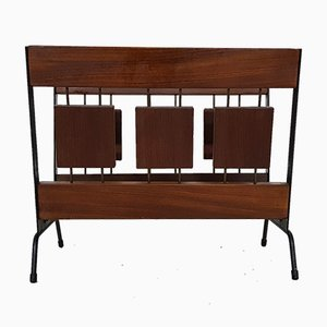 Vintage Rosewood & Metal Magazine Stand from Brovorm