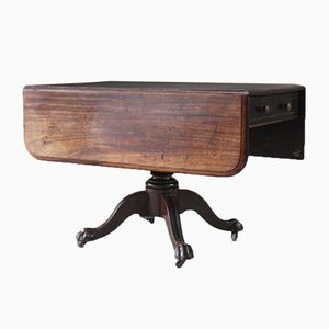 Faltbarer antiker Tisch aus Mahagoni