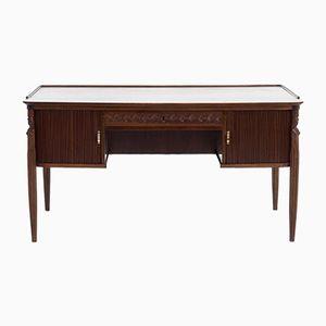 Dänischer Schreibtisch mit Rolltüre, 1960er