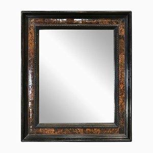Flämischer Spiegel im ebonisierten Rahmen aus Schildplatt-Imitat, 1860er