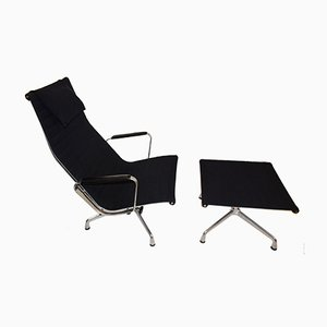 Model EA124 Swivel Chair with EA125 Footrest by Charles & Ray Eames by Vitra, 1950s