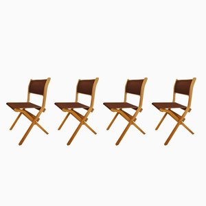 Chaises Pliantes par Ilmari Tapiovaara pour Olivo, 1970s, Set de 4