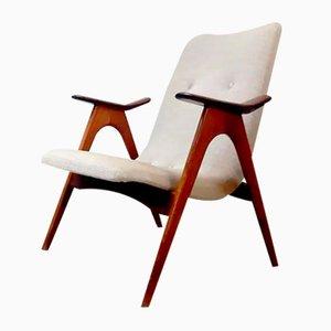 Niederländischer Vintage Armlehnstuhl von Louis van Teeffelen für Webe