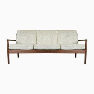 Dänisches Vintage 3-Sitzer Sofa aus Teak von Grete Jalk für Cado