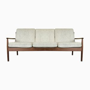 Vintage Danish Teak 3-Seater Sofa by Grete Jalk for Cado