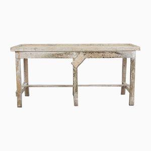 Table de Travail Industrielle Vintage Blanche