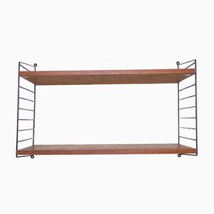 Teak String Shelf by Kajsa & Nils Strinning for String, 1960s