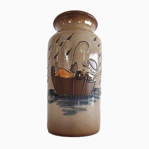 Portaombrelli o vaso vintage in ceramica di Scheurich, anni '70