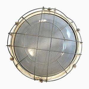 Lampada da parete o da soffitto grande industriale in ghisa di Elektrosvit, anni '70