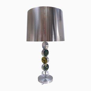 Lámpara de mesa de aluminio, acero y vidrio de Nanny Still para Raak, 1972
