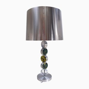 Tischlampe aus Aluminium, Stahl & Glas von Nanny Still für Raak, 1972