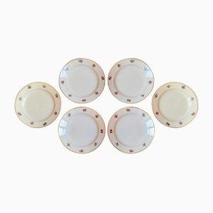 Vintage Dolly Plates from Faïencerie de Sarreguemines, Set of 6