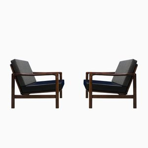 Poltrone Mid-Century di Zenon Baczyk per Swarzedz Furniture Factory, anni '60, set di 2