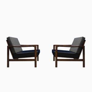 Sillones Mid-Century de Zenon Baczyk para Swarzedz Furniture Factory, años 60. Juego de 2