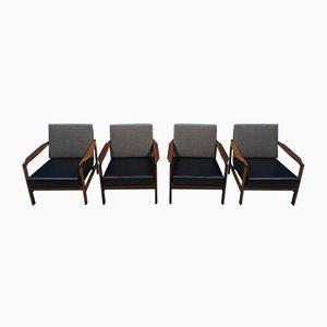 Poltrone Mid-Century di Zenon Baczyk per Swarzedz Furniture Factory, anni '60, set di 4