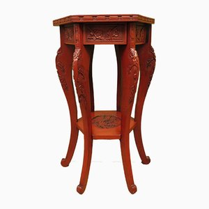 Antique Chinese Red-Lacquered Side Table