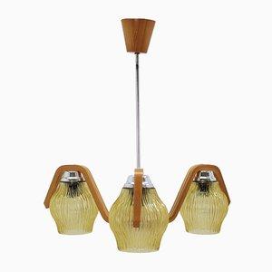 Lámpara de techo vintage de Dřevo Humpolec, años 60