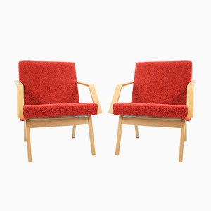 Czech Lounge Chairs, 1958, Set of 2
