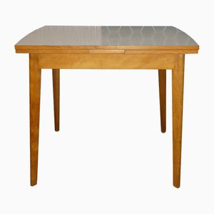 Vintage Wood & Formica Extendable Dining Table