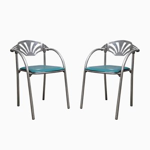 Italian Alisea Chairs by Lisa Bross for Studio Simonetti, 1980s, Set of 2