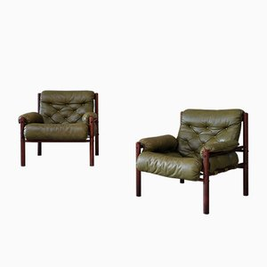 Easy Chairs by Arne Norell for Arne Norell AB, 1970s, Set of 2