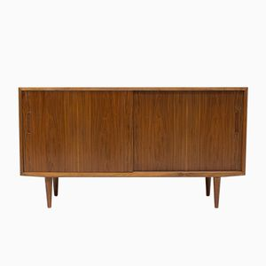 Danish Walnut Record Cabinet Sideboard by Poul Hundevad for Hundevad & Co., 1960s