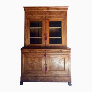 Antique French Napoleon III Elm Cabinet